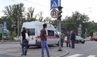 ДТП на Лесном проспекте с скорой помощью