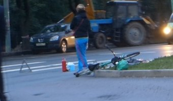 Наезд на велосипедиста у Озерков