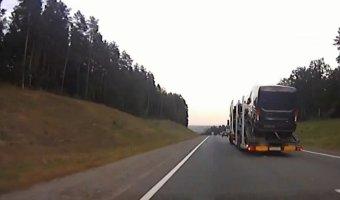 Преследование длинномерного грузовика с пьяным водителем с использованием табельного оружия