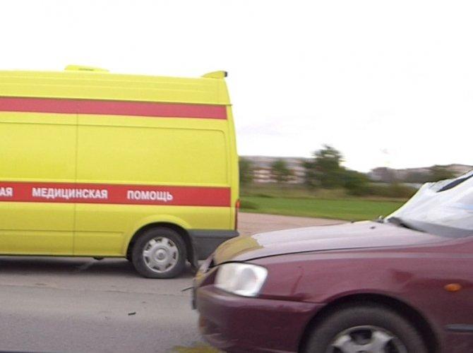 Наезд на пешехода на Петергофском шоссе