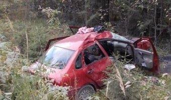ДТП в Петрозаводске на 31-ом км Ялгубского шоссе автомобиль слетел с дороги в кювет