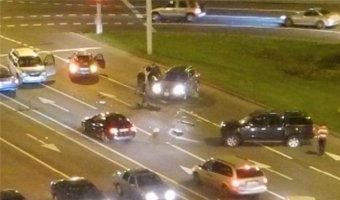 В Минске произошла авария с участием 4 автомобилей.