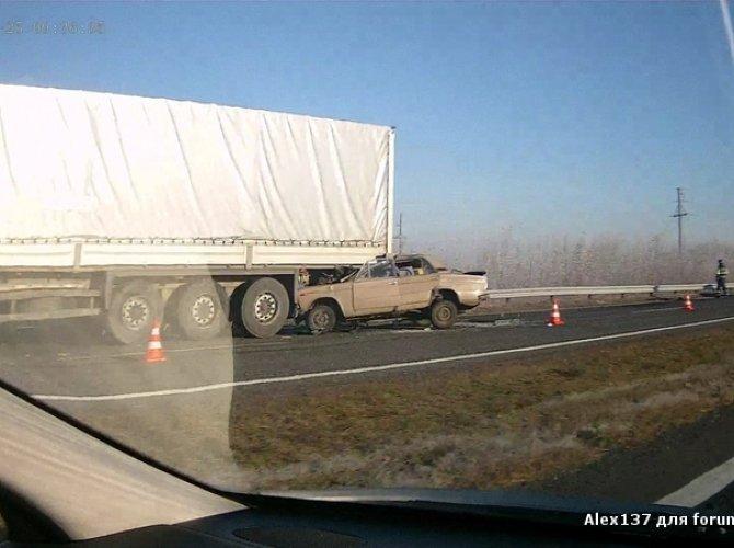 ДТП в Белоруссии - наезд на фуру
