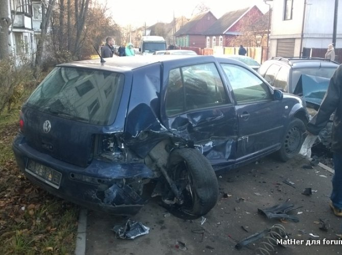 Массовая авария в Белоруссии