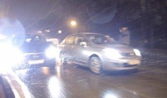 ДТП на Каменноостровском проспекте в условиях вечернего дождя