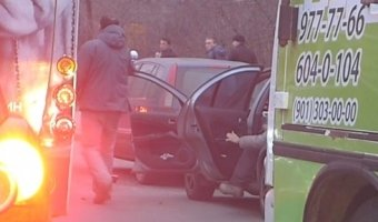 Конфликт между водителями на Торжковской улице