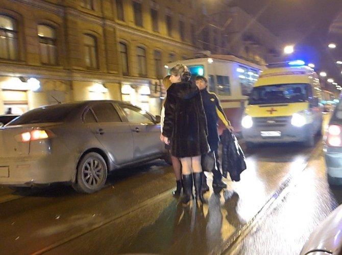 Наезд на женщину-пешехода на Старопетергофском проспекте