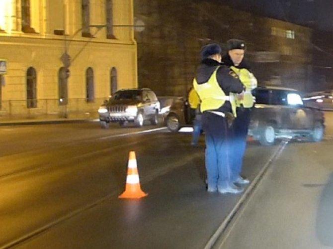 ДТП на съезде с Литейного моста