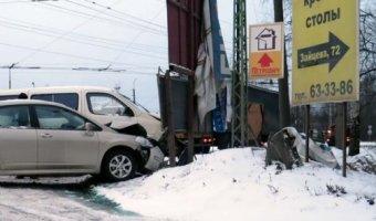 ДТП, наезд на препятствие в Петрозаводске