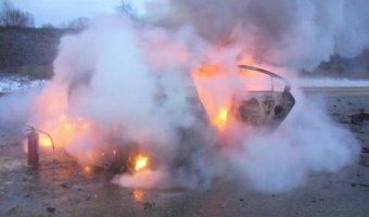 Авария в Тульской области: сгорела автомашина, есть пострадавшие