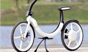 Складной электровелосипед от Volkswagen способен проехать 20 км без подзарядки