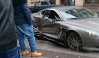 ДТП на улице Восстания с Aston Martin