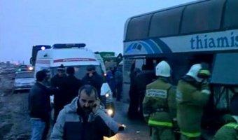 В Волгоградской области маршрутка протаранила автобус с приезжими детьми