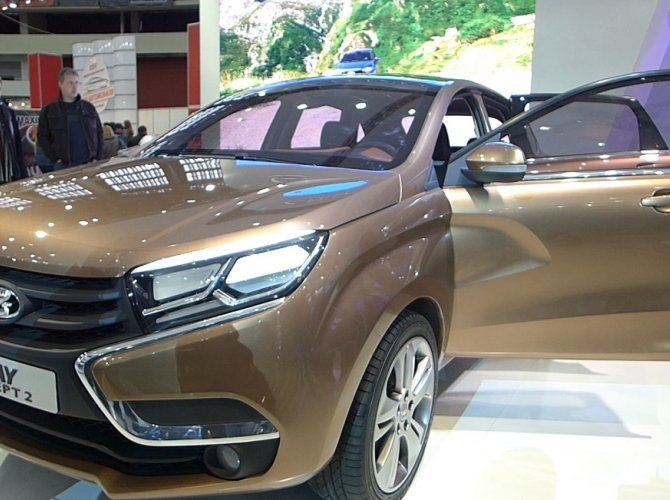 ВАЗ LADA Xray - выставка Мир автомобиля 2015