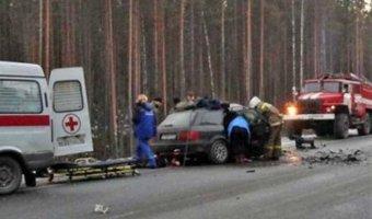 В Олонецком районе Республики Карелия произошла авария с участием сотрудника полиции