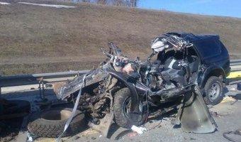 В Тульской области три человека погибли: «Mitsubishi» врезался в стоящий КАМАЗ