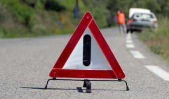 В Евпатории иномарка столкнулась с крестом: двое погибли, двое ранены