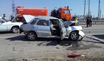 Под Волгоградом произошла авария с четырьмя машинами: пострадал человек