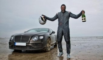 Идрис Эльба на Bentley установил рекорд скорости на песке