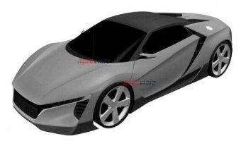 Несколько патентных изображений нового спорткара Acura появились в интернете