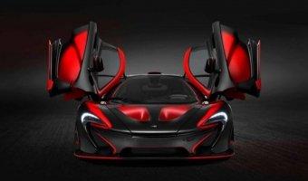 black red McLaren P1 красно черный