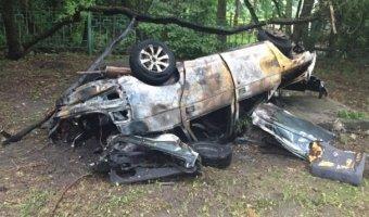 Смертельное ДТП: под Пятигорском машина с детьми врезалась в припаркованный трактор и загорелась