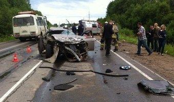 В аварии под Череповцом погибли четыре человека