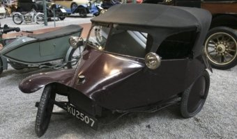 Трех-колесный британский автомобиль Scott Type Tricar - настоящее ретро-чудо!