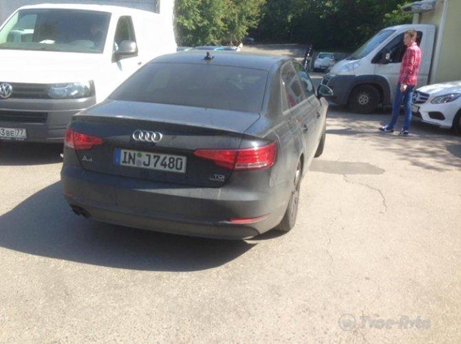 Audi А4 spy moscow 2jpg
