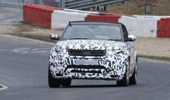 Кабриолет Range Rover Evoque тестируется на трассе Нюрбургринг