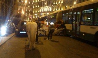 В Санкт-Петербурге автобус врезался в карету
