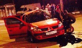 В Гатчине в ДТП погиб мотоциклист