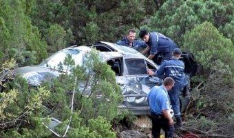 В Дагестане при падении автомобиля с обрыва погибли два полицейских