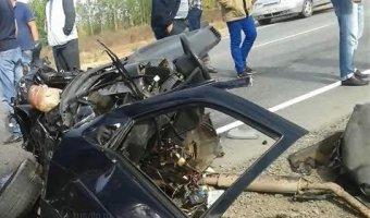 В страшной аварии на трассе М-7 в Татарстане погибли трое (видео с места ДТП)