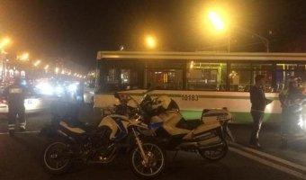 У Курского вокзала в ДТП с автобусом погиб байкер