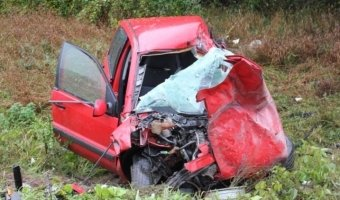 Под Псковом в лобовом столкновении погибли два человека
