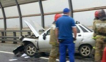 Мужчина умер за рулем на Большом Обуховском мосту