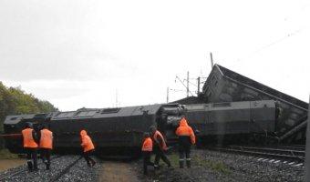 На Урале с рельс сошел грузовой состав