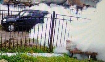 В Петербурге взорвался муковоз, очевидцы были перепуганы из-за «распыленного белого вещества»
