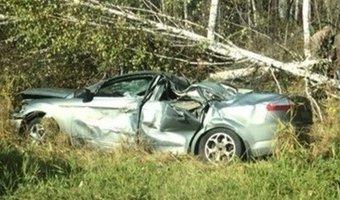 В ДТП под Тюменью по вине отца пострадали четверо детей