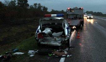 В Ставропольском крае в ДТП с грузовиком пострадали три инспектора ДПС