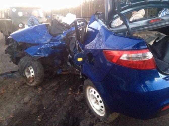В Тосно два человека погибли, врезавшись в столб на Kia 1.jpg