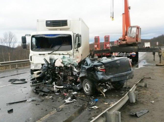 Под Мурманском в ДТП погибли три человека на Lada Granta 7.jpg