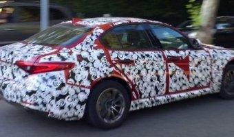 Базовая Alfa Romeo Giulia заснята на тестах