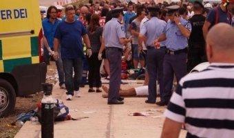 На автошоу на Мальте из-за съезда автомобиля с трассы пострадали десятки человек