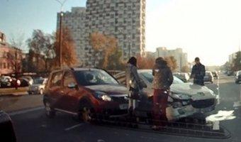 ДТП, столкновение двух автомобилей