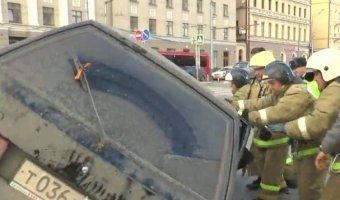 Опрокидывание автомобиля в Казани