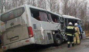 В ДТП с автобусом под Курганом погиб человек