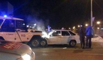 В Сургуте в ДТП с полицейским УАЗом пострадала девушка