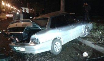На шоссе революции разбился пьяный мигрант